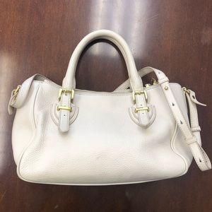 J.Crew Pebbled Leather Crossbody Satchel Handbag